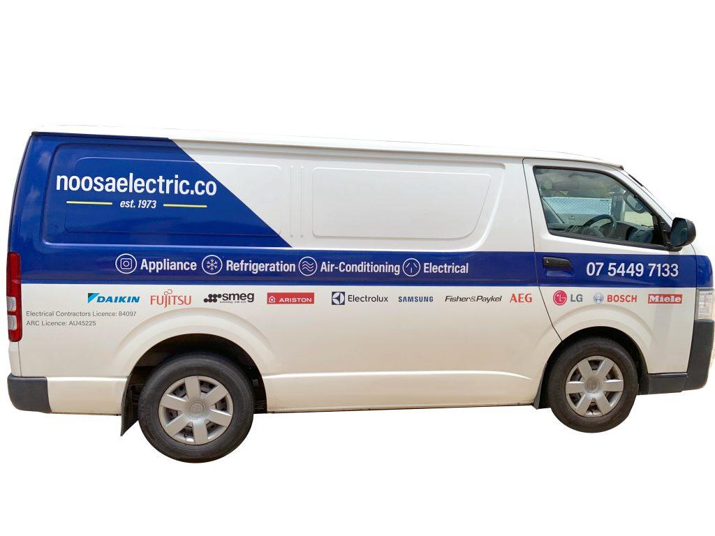 Noosa Electric Co Van Graphics