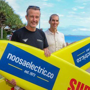 Huw (Director) with Andrew Maclaren (Noosa Electric Co)